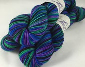 Fat Cat: Superwash sparkly Charm DK Self Striping Yarn in 4 colors