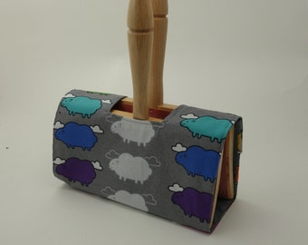 Hand Carder Cover. Fabric Case for your Hand Carders. Sheep fabric