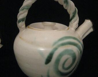White small teapot