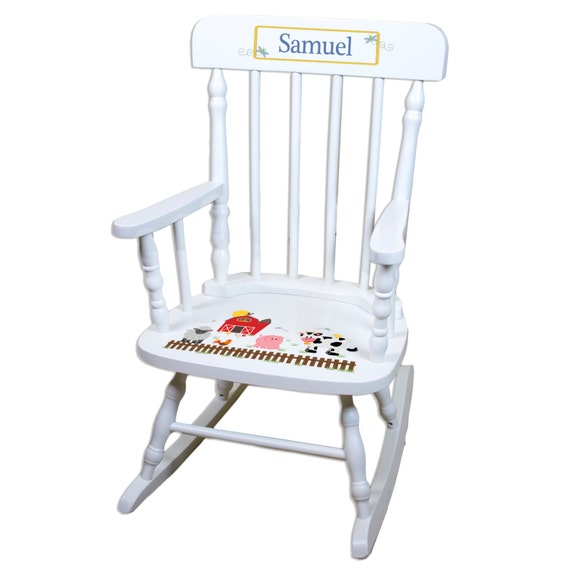 Barnyard Rocking Chair Kids Personalized Rocker Barn Farm