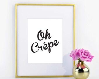 Oh Crepe Print
