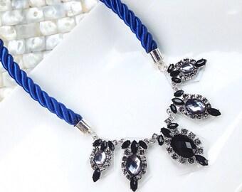 Cobalt Blue Statement Necklace
