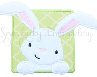 Cute Easter Bunny Applique Embroidered Patch , Sew or Iron on