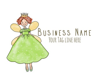 Premade Logo -Princess Logo- Logo Design - Party Business Logo