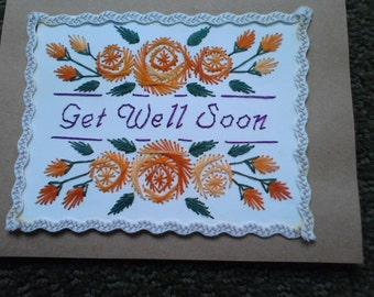 Greeting Card, Get Well, Roses