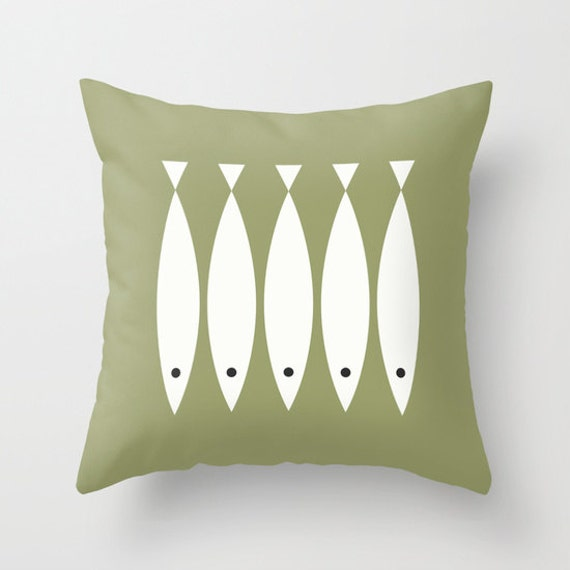 6 colours Minimalist Fish Pattern Pillow Cover Scandinavian