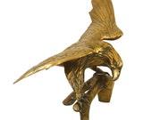 Vintage Brass Eagle Sculpture