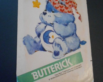 "Butterick 6226,    Care Bear Bedtime Bear, stuffed toy, appx. 17"",  Sewing Pattern"