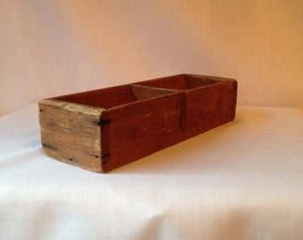 Vintage Wooden Coin Tray