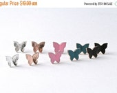 50% OFF CAREFREE >> butterfly studs 18k rose gold or silver