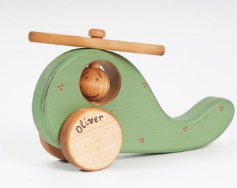 Wooden Toy Helicopter, Personalized Wood Toy Vehicle, eco friendly toys for baby