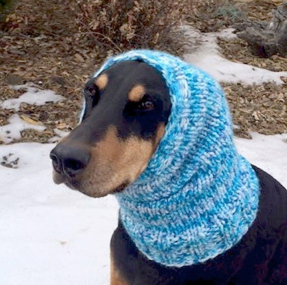 Knitting Pattern Dog Snood : Hand Knitted Snood for Medium to Large Dog Thick and extra