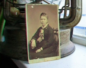 Victorian Photograph Antique Cabinet Card 1800s Victorian Woman