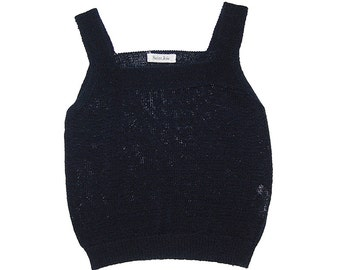 Black Knitted Crop-Top