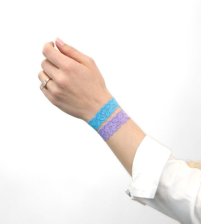 Lace Bracelet Stack Set Stackable Bracelet Skinny Stretch Hair Tie
