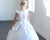 First communion dresses in white pure silk and 140 silk colours