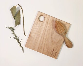 handmade maple cheese board