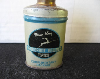 Vintage Sample MARY KING Talc Powder Tin
