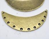 8pcs Antique Bronze Moon Shape Connector Charm Pendant 27x55mm H405-4
