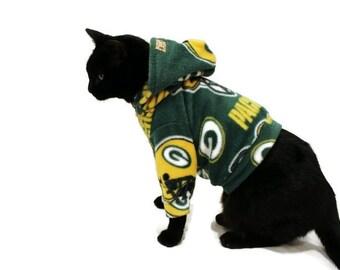 NFL Team Fleece Cat Hoodie-Custom Fleece Cat Hoodies-Fleece Cat Shirt-Cat Clothes-Cat Sweater-Cat Shirt-Clothes for Cats-Cat Apparel