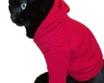 Cat Hoodie - Cat Hoodies-Cat Clothes-Cat Clothing-Cat Sweater-Clothes for Cats-Hoodies for Cats-Sweaters for Cats-Shirts for Cats