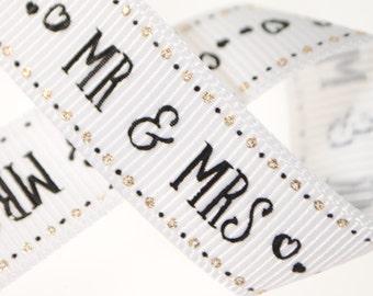 """5/8"""" Mr & Mrs - Five, Ten, or Twenty-Five Yards"""