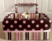 Dog Car Seat - LARGE ***Ready Made Chocolate Brown, Pink - Dot, Stripe *** by FancyFido