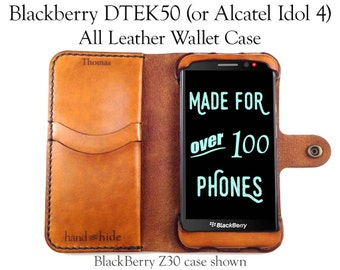 BlackBerry DTEK50 (or Alcatel Idol 4) Leather Wallet Case / leather phone case / phone case wallet / DTEK50 case / BlackBerry Case