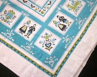 Pennsylvania Dutch Folk Vintage Rectangle Tablecloth