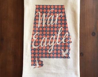 War Eagle Flour Sack Tea Towel