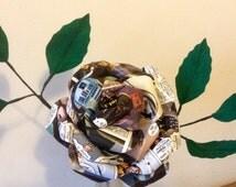 Star Wars single stem comic book paper rose