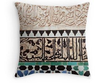 Moroccan Pillow Cover, Patterns, Ethnic, Morocco, Tiles, Islamic Art, Geometric Pattern, Home Decor, Bohemian Throw Pillow Case, Boho Chic