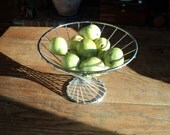 Vintage Mid Century Modern Style Chrome Covered Metal  Bowl and/or Basket with great sculptural lines, design In Very Good Condition