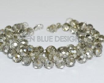 Smokey Crystal Bracelet, Crystal Cluster Bracelet, Crystal Jewelry, Wedding Bracelet, Sparky Crystal Bracelet, Bridesmaid Crystal jewelry