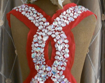 Opalescent Stone Beaded Applique