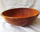 Vintage Japanese Hand Turned Wooden Bowl Occupied JAPAN