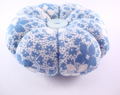 Retro Vintage Style Pincushion, 1930's Inspired fabric pin cushion, Decorative pins, Traditional Flower Pincushion, Mothers Day Gift