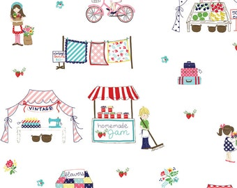 Tasha Noel Fabric Vintage Market One Yard Of Fabric READY TO SHIP!!!