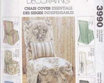Uncut McCalls Home Decorating Chair Cover #3990 Sewing pattern from 2003