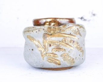 Vintage Studio Pottery With Gold Detail