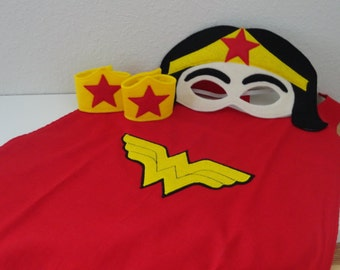 Female Adult Super Hero Cape Set