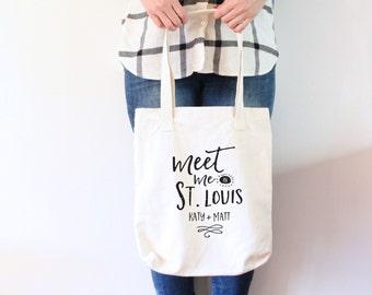 Custom Wedding Tote Bag - Meet Me in St. Loui Wedding Tote Bag
