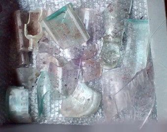 Antique Glass Shards from bottle dig