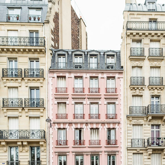 Pink apartment building in Paris!