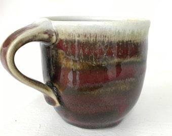 Red-Brown Stripey Mug