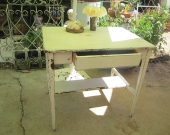 Shabby chic table white farmhouse coffee table  chic Farmhouse prarie
