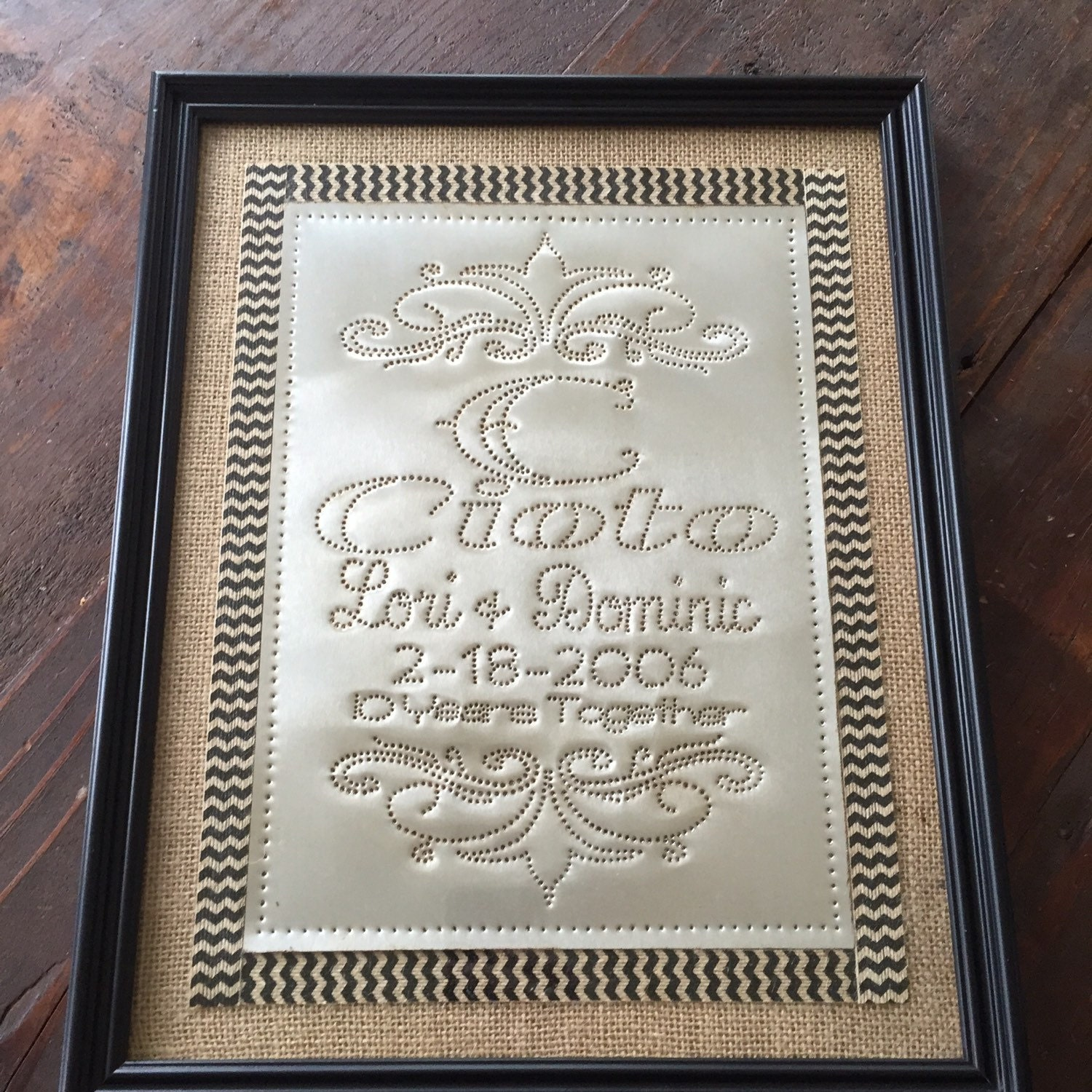 10th Anniversary Tin Gift Personalized By LivingSimplePunchTin