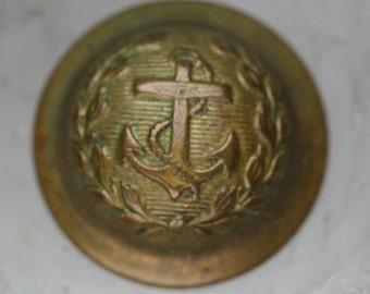 Vintage Brass Naval Buttons - 6pc