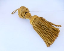 Antique  Large French Passementerie Tassels Gold, Set Of Two