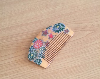 Vintage Wooden Hair Comb